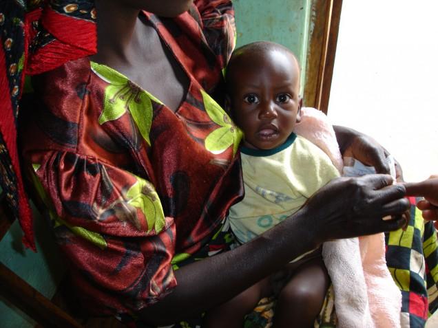 malariasjukt barn